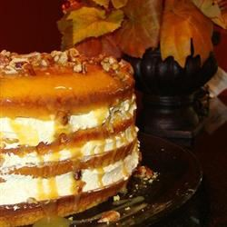 Luscious Four-Layer PHILLY Pumpkin Cake amycarson