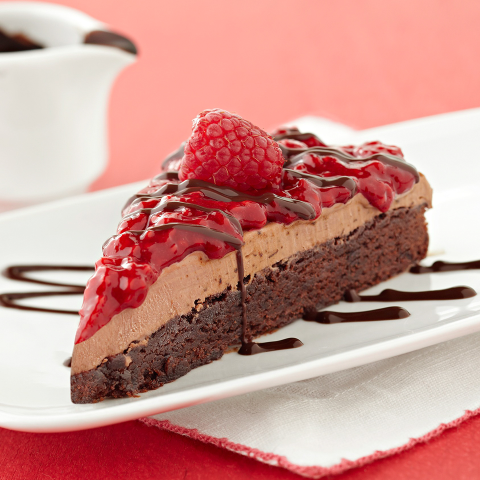 Raspberry Mocha Ice Cream Brownie Cake Diabetic Living Magazine