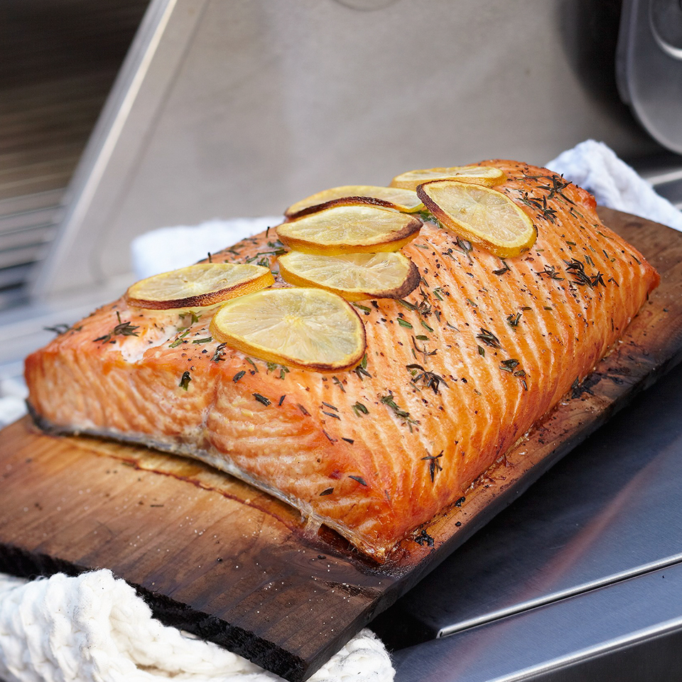 Cedar Plank Grilled Salmon Allrecipes Trusted Brands