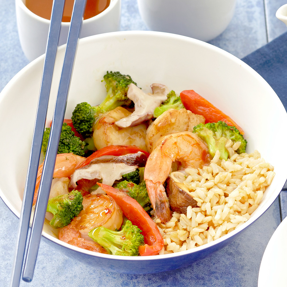 Shrimp and Scallop Vegetable Stir-Fry Trusted Brands