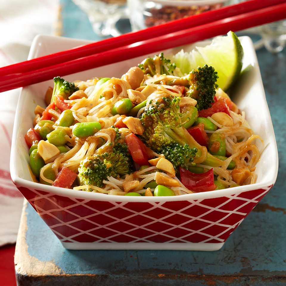 Glass Noodle Salad with Peanut Sauce Diabetic Living Magazine