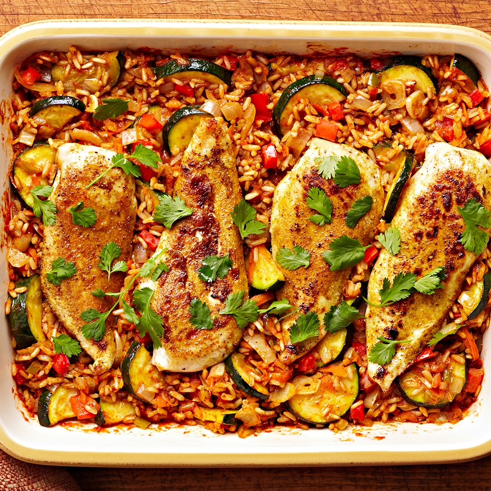 Tandoori Spiced Chicken and Rice Bake Trusted Brands