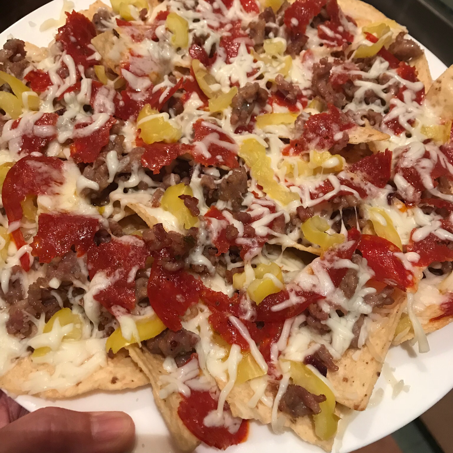 Italian Nachos Restaurant-Style Happybaker