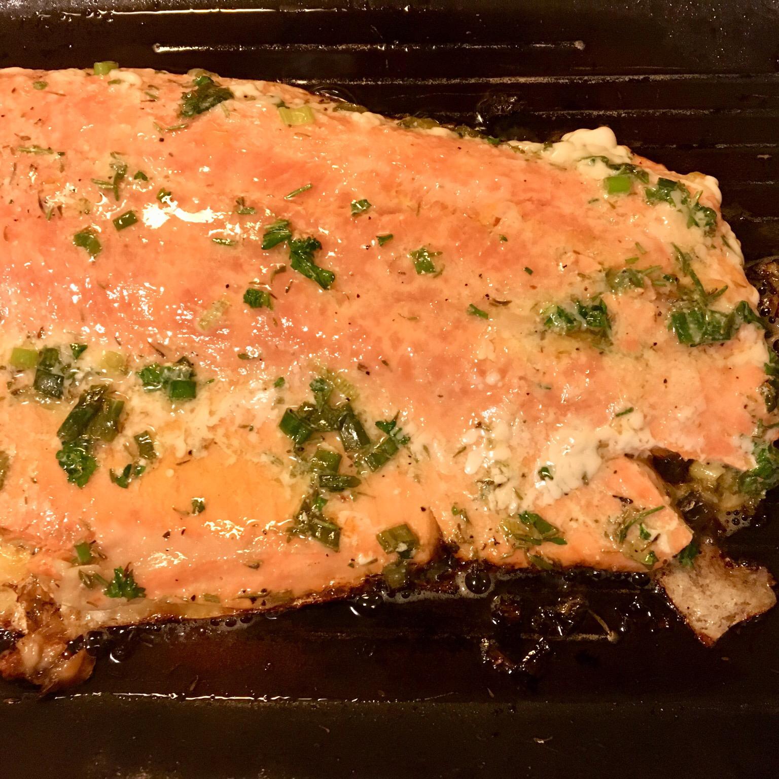 Grilled Salmon Yvette
