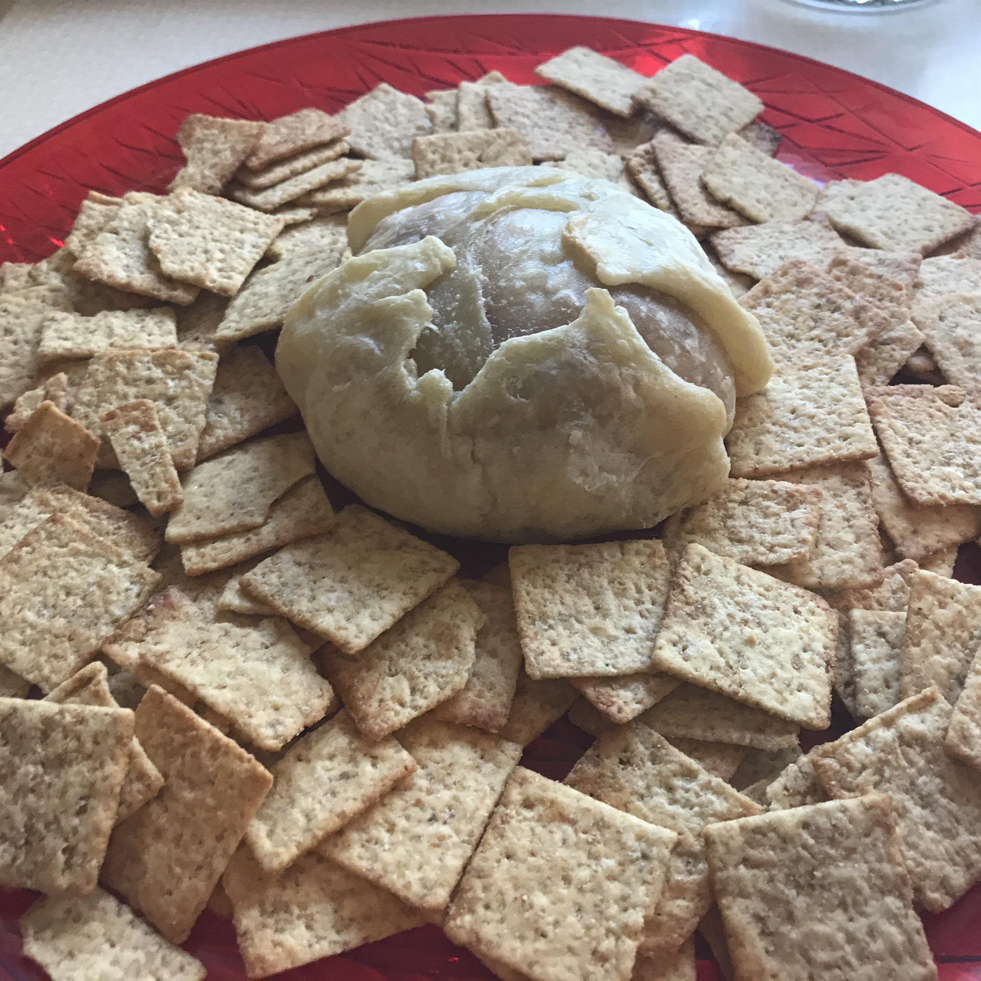 Raspberry Walnut Baked Brie