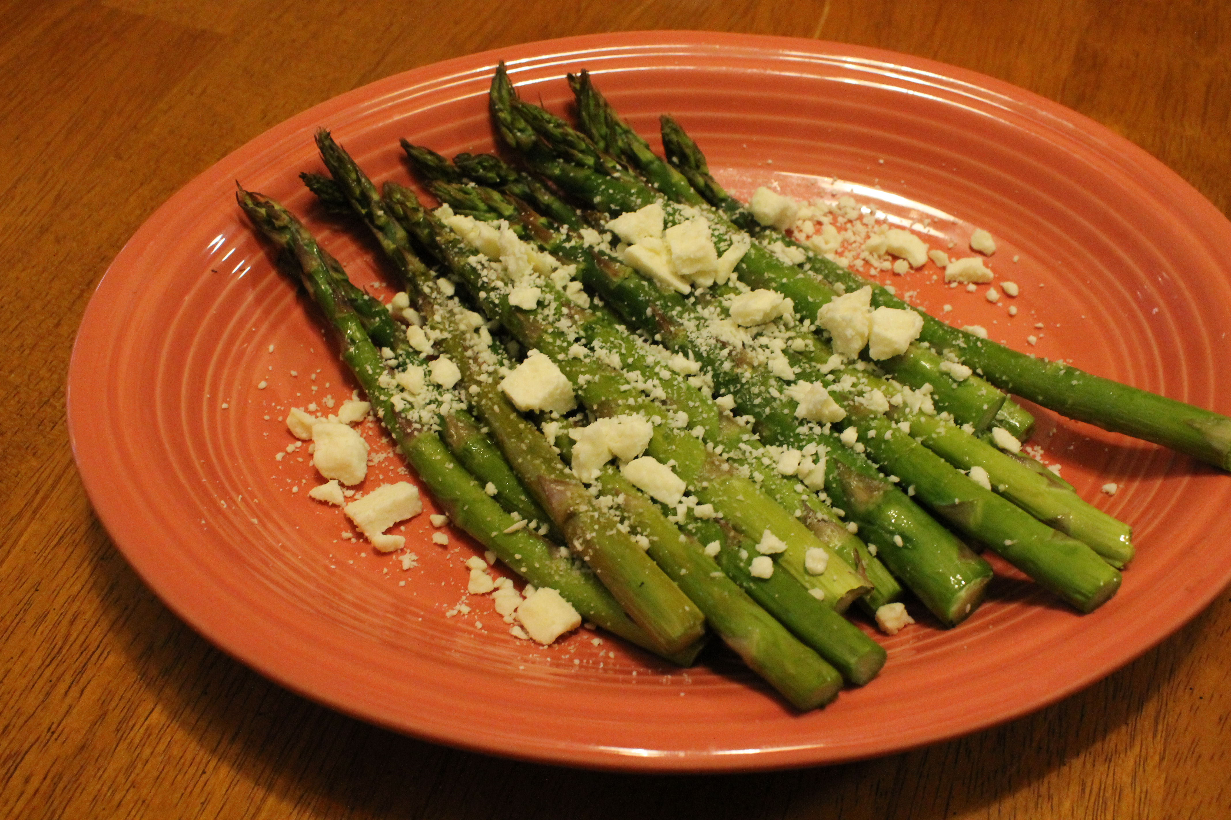 Broiled Asparagus with Goat Cheese Joey Joan