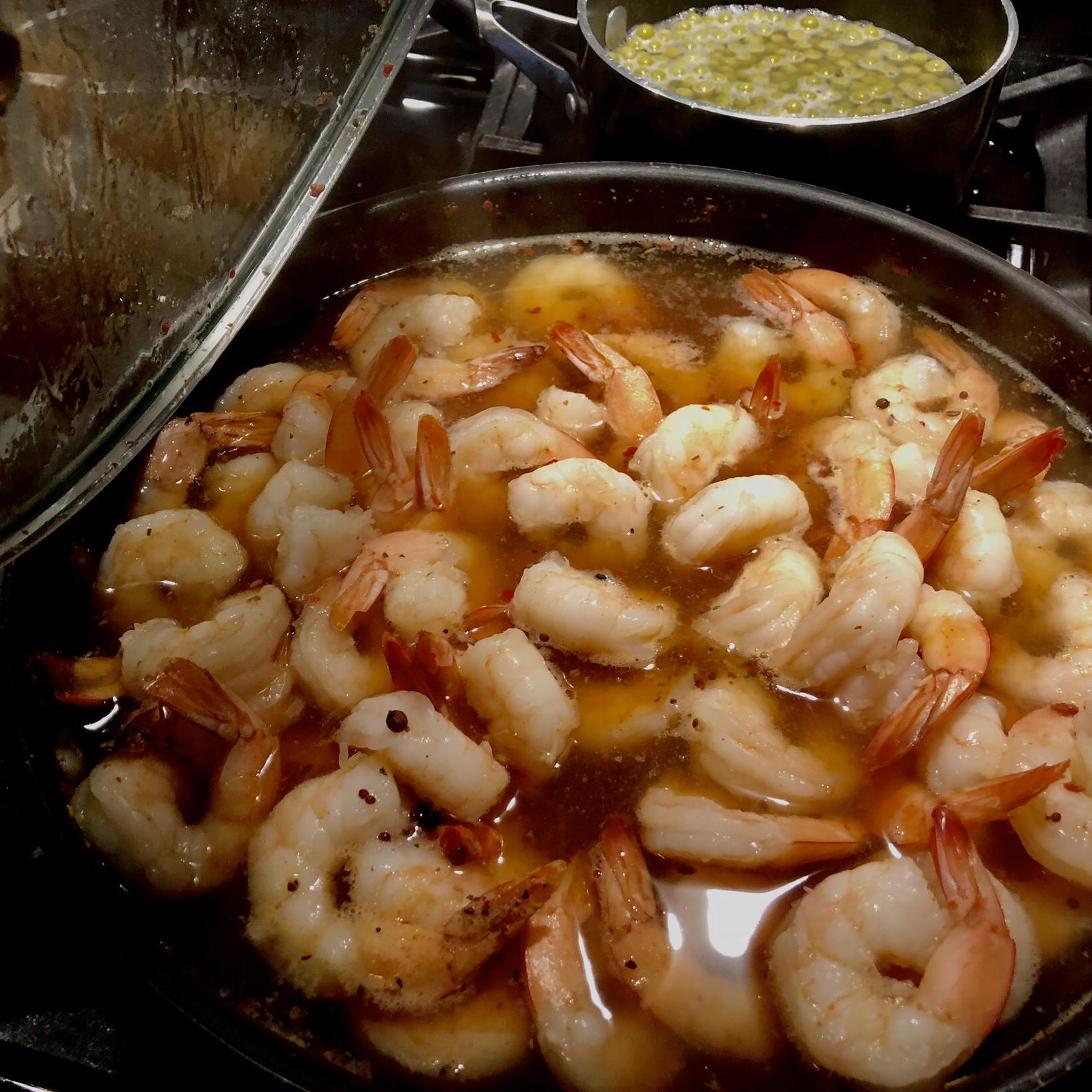 Texas Boiled Beer Shrimp