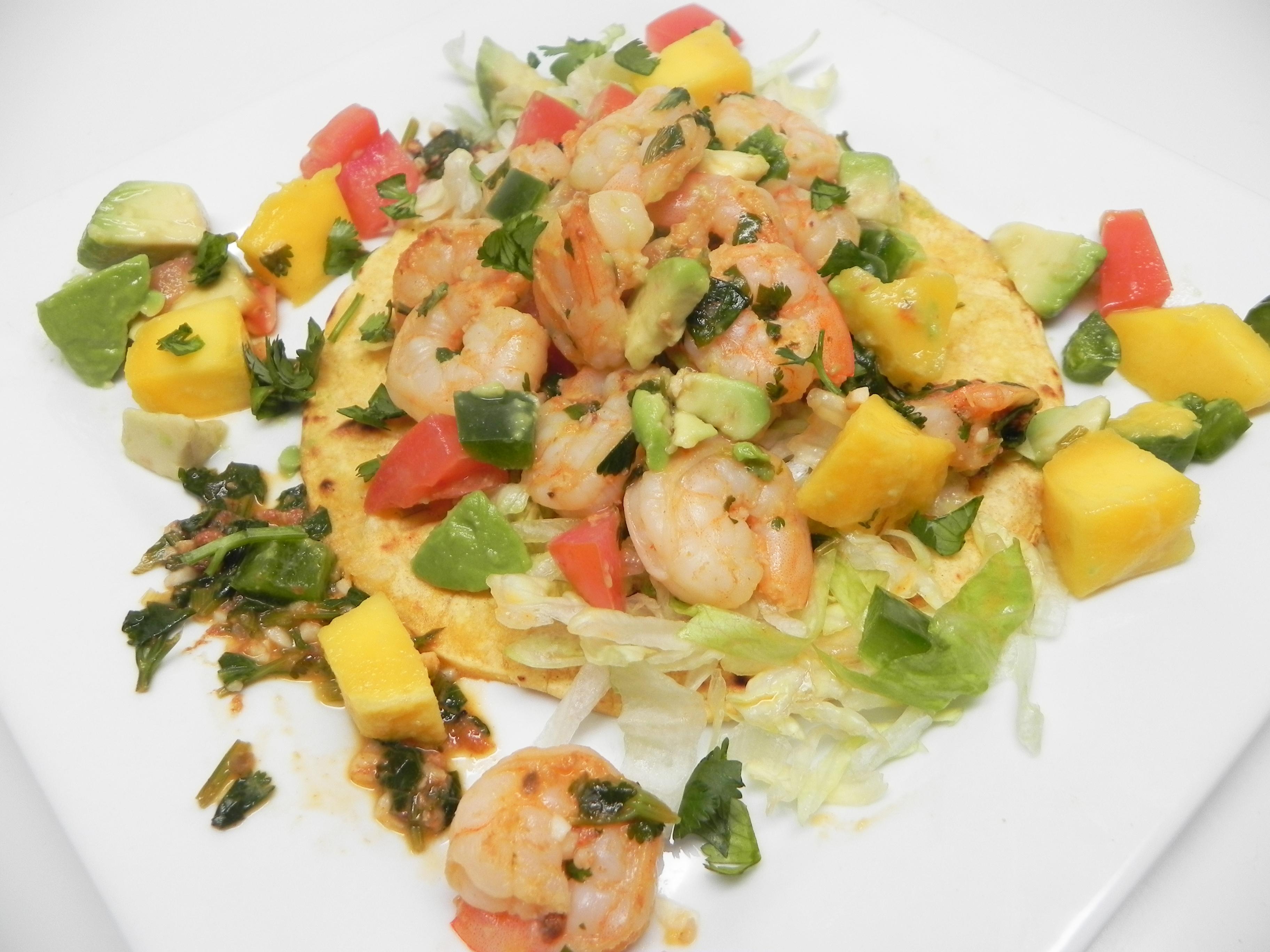 Lime Shrimp Tacos with Mango Salsa