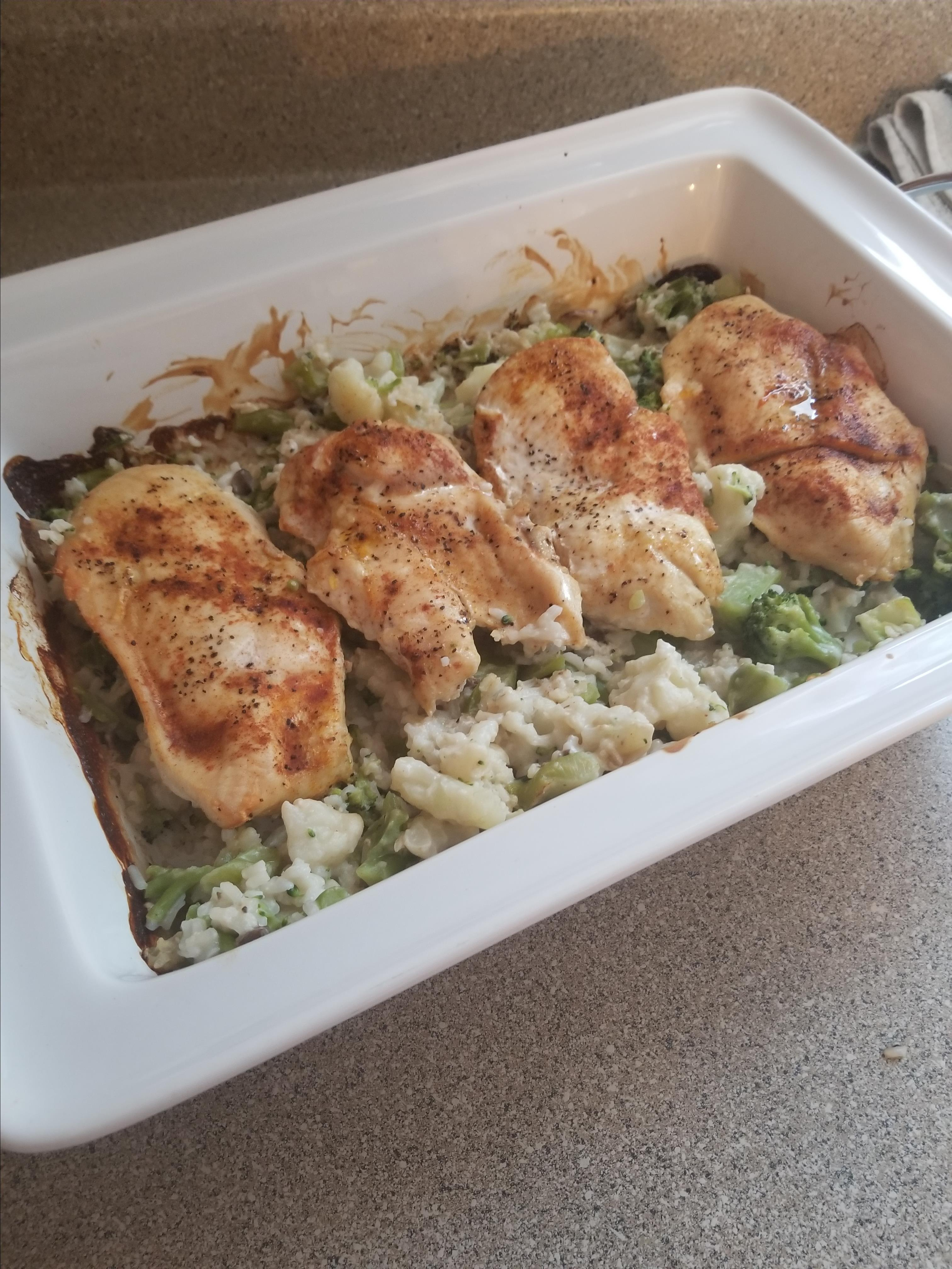 One Dish Chicken and Rice Bake Campbell's Kitchen