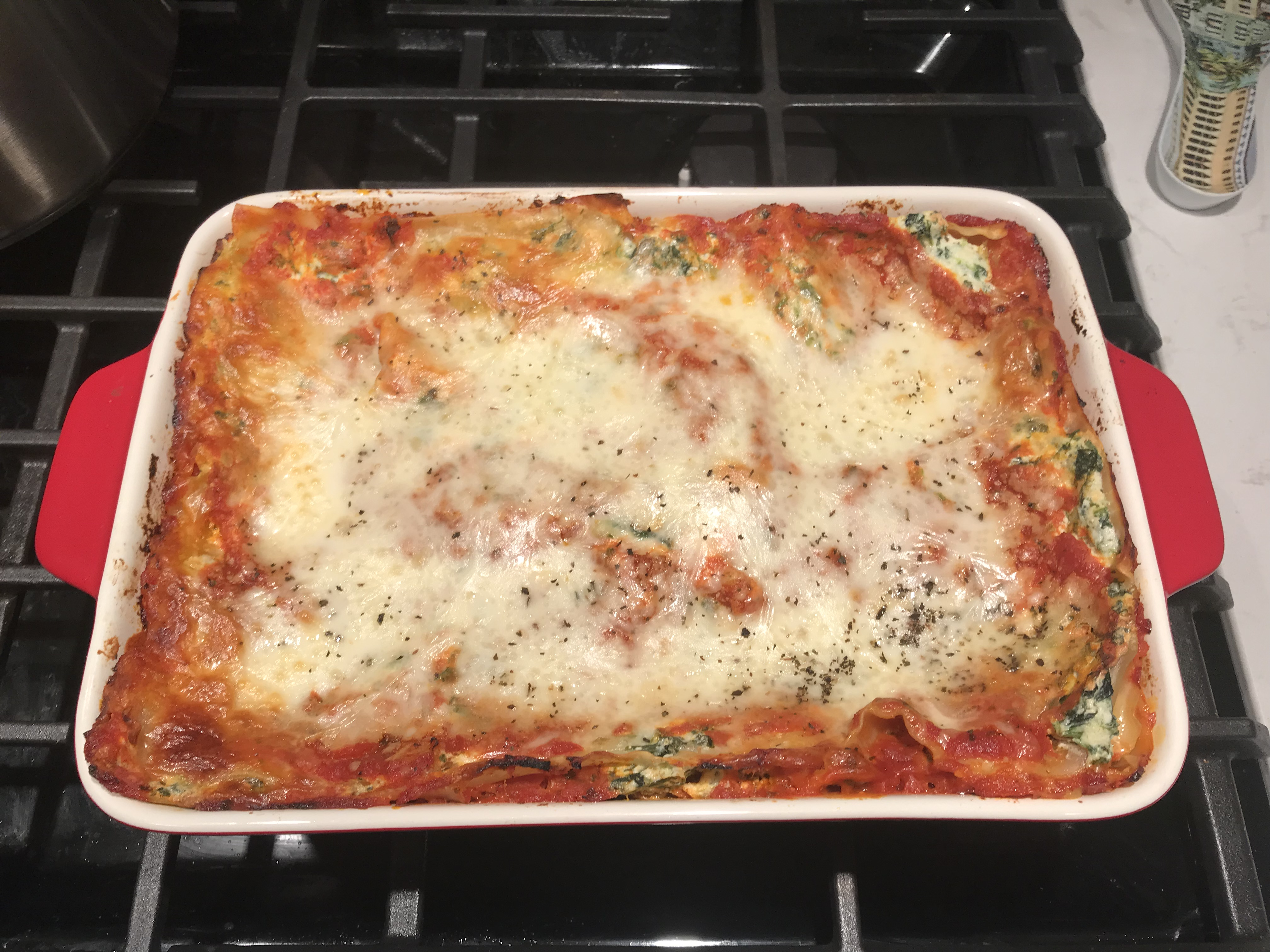 Easy Vegetarian Spinach Lasagna