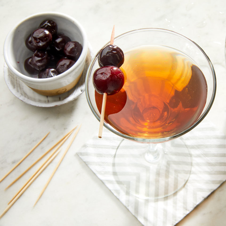 A 3:1 ratio of whiskey to vermouth is the best for this classic Manhattan recipe. This cocktail never goes out of style. Source: EatingWell.com, March 2018