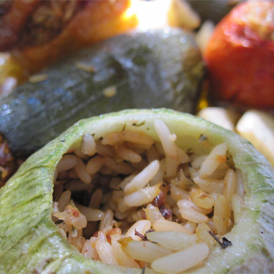 Greek Stuffed Zucchini Caramela
