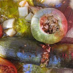 Greek Stuffed Zucchini