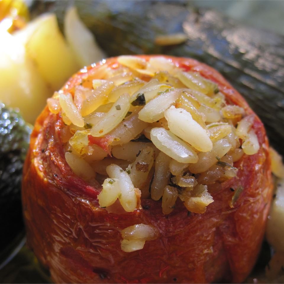 Stuffed Bell Peppers, Greek Style Caramela