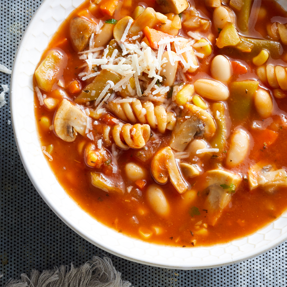 A slow-cooker will do all the work for this delicious, diabetic-friendly Vegetable and Pasta Soup. Opt for vegetable stock to make this soup vegetarian. Source: Diabetic Living Magazine