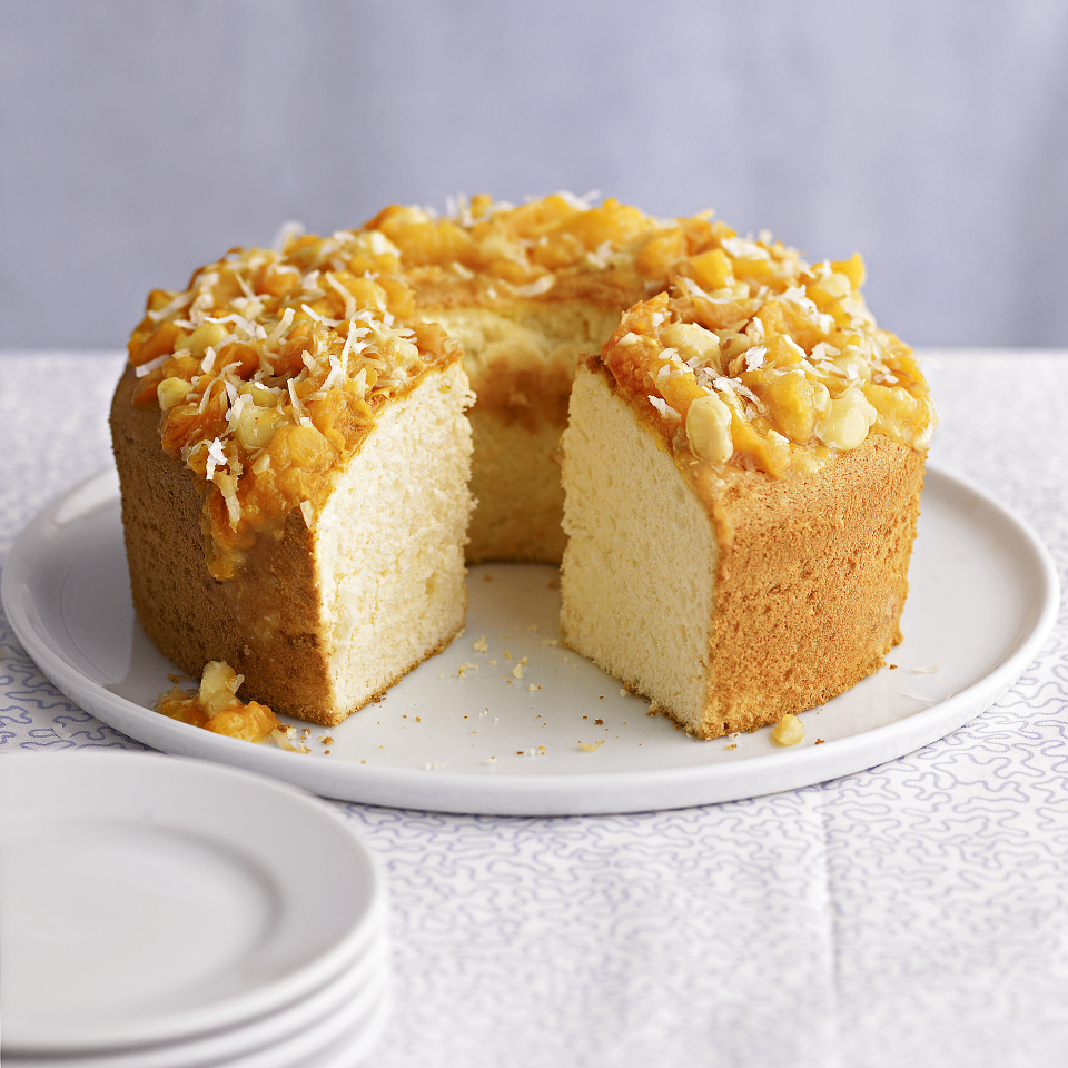 Pineapple Cake with Macadamia-Apricot Topper Trusted Brands