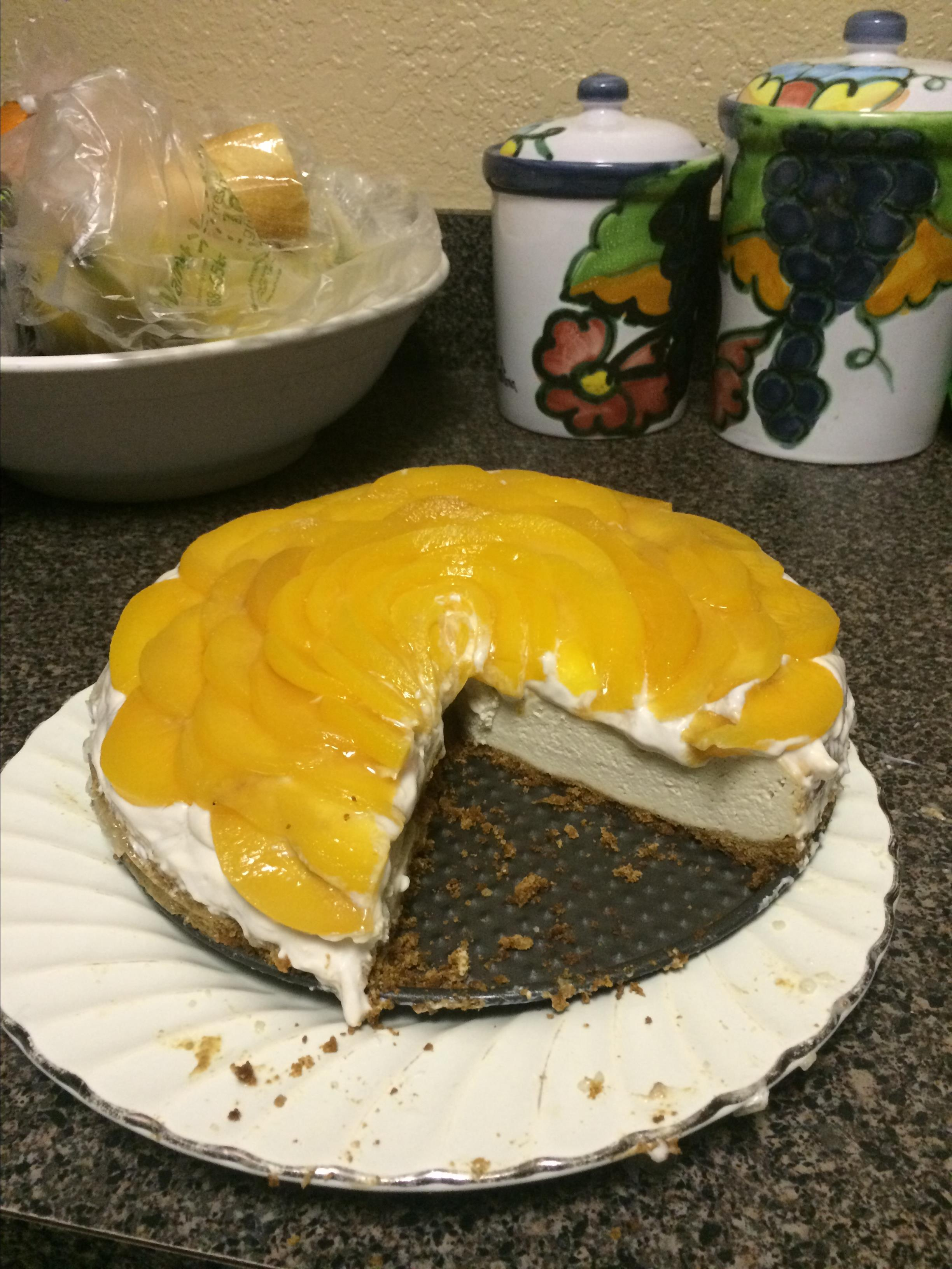 Quick and Easy Peach Cheesecake Dia