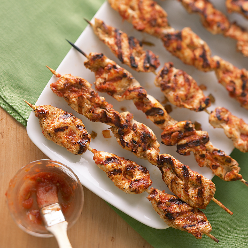 Salsa Chicken on a Stick Diabetic Living Magazine