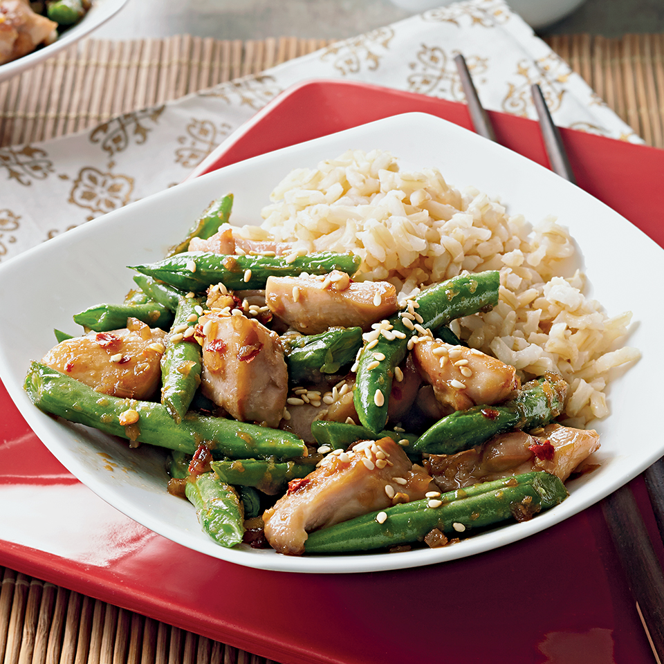 Sesame Honey Chicken and Green Beans Diabetic Living Magazine