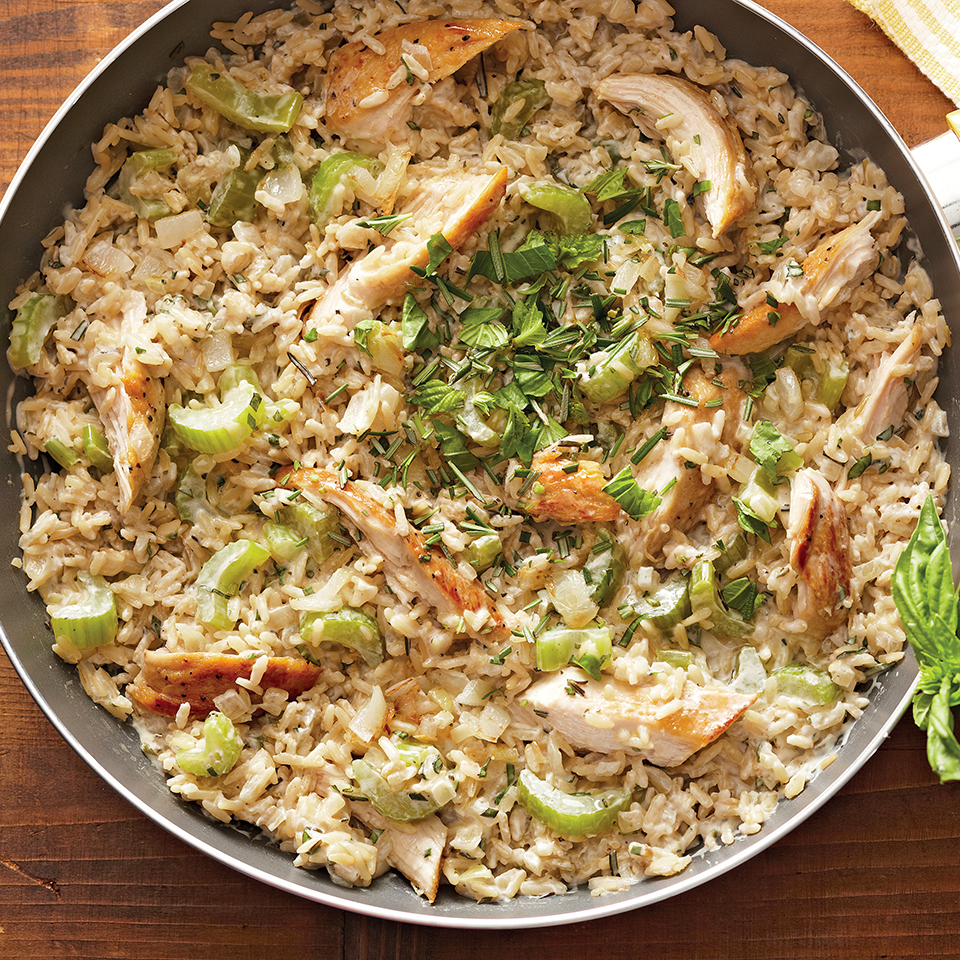 Creamy Basil-Rosemary Chicken and Rice Diabetic Living Magazine