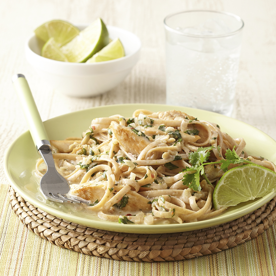 Creamy Coconut Lime Chicken with Pasta Diabetic Living Magazine