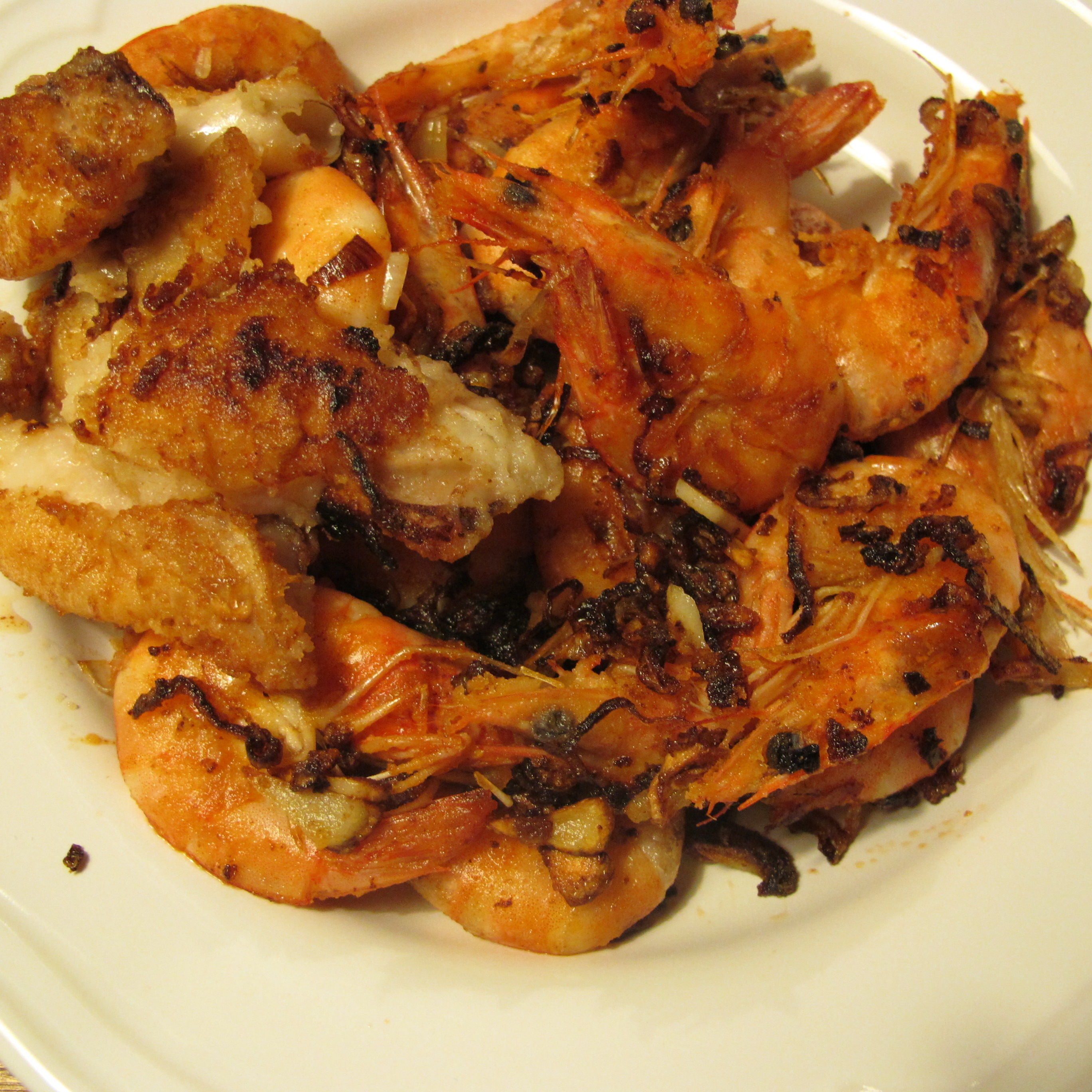 Pan-Fried Garlic Shrimp