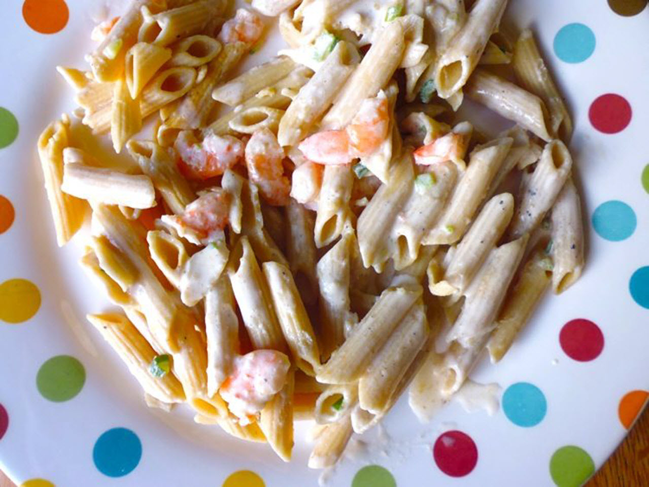 """""""If you don't have much time for dinner, try this creamy shrimp pasta recipe,"""" says nch, the recipe submitter. You'll cook garlic and shrimp, add wine and cream, and simmer until the sauce starts to thicken, then stir in basil. Spoon your creamy shrimp over cooked spaghetti and top with grated Parmesan cheese. """"It's quick and easy to make and my whole family loved it."""""""