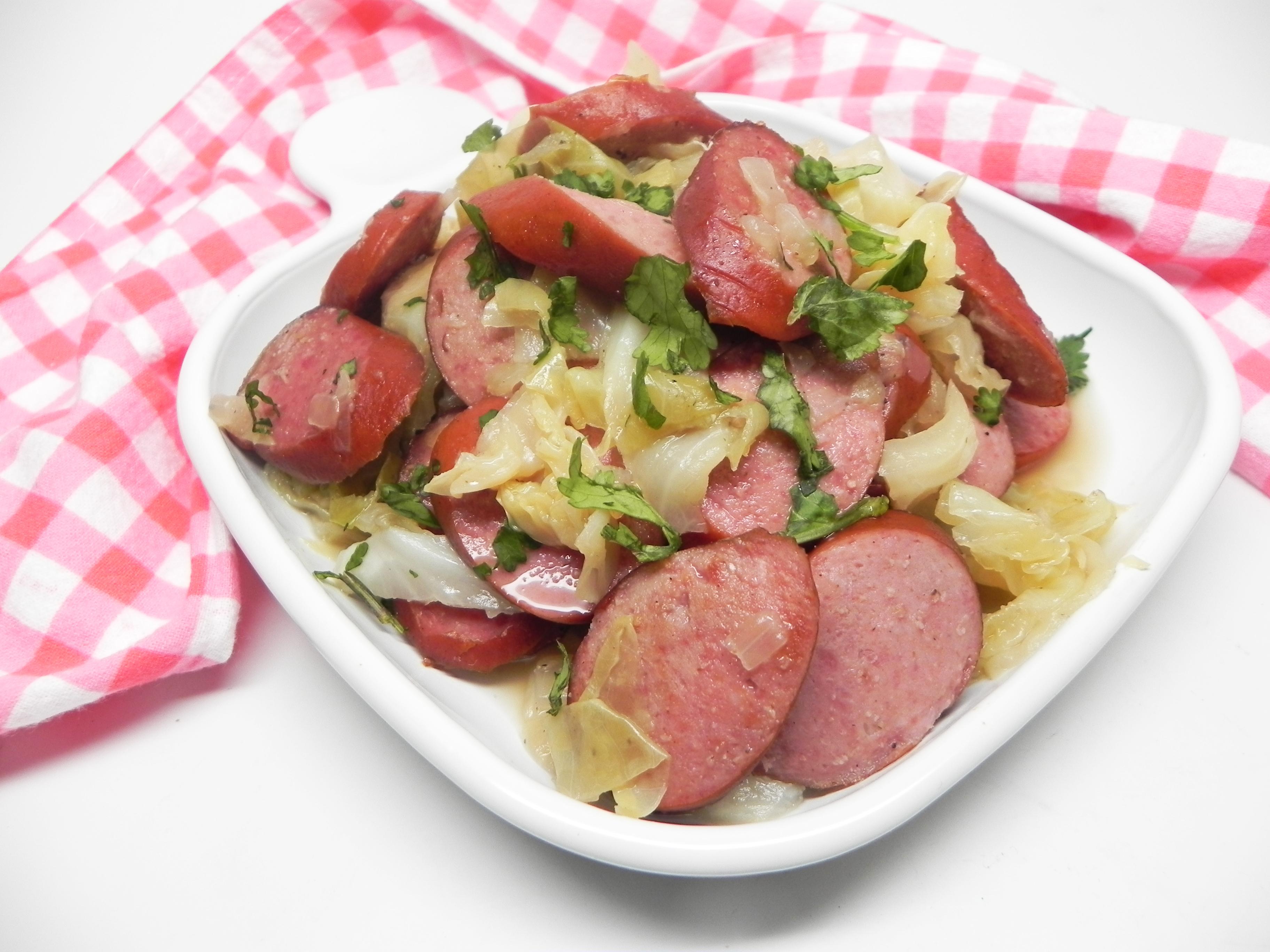 Cabbage Stir-Fry with Smoked Turkey Sausage