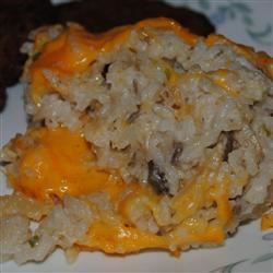 Rice Casserole with Cheese and Almonds