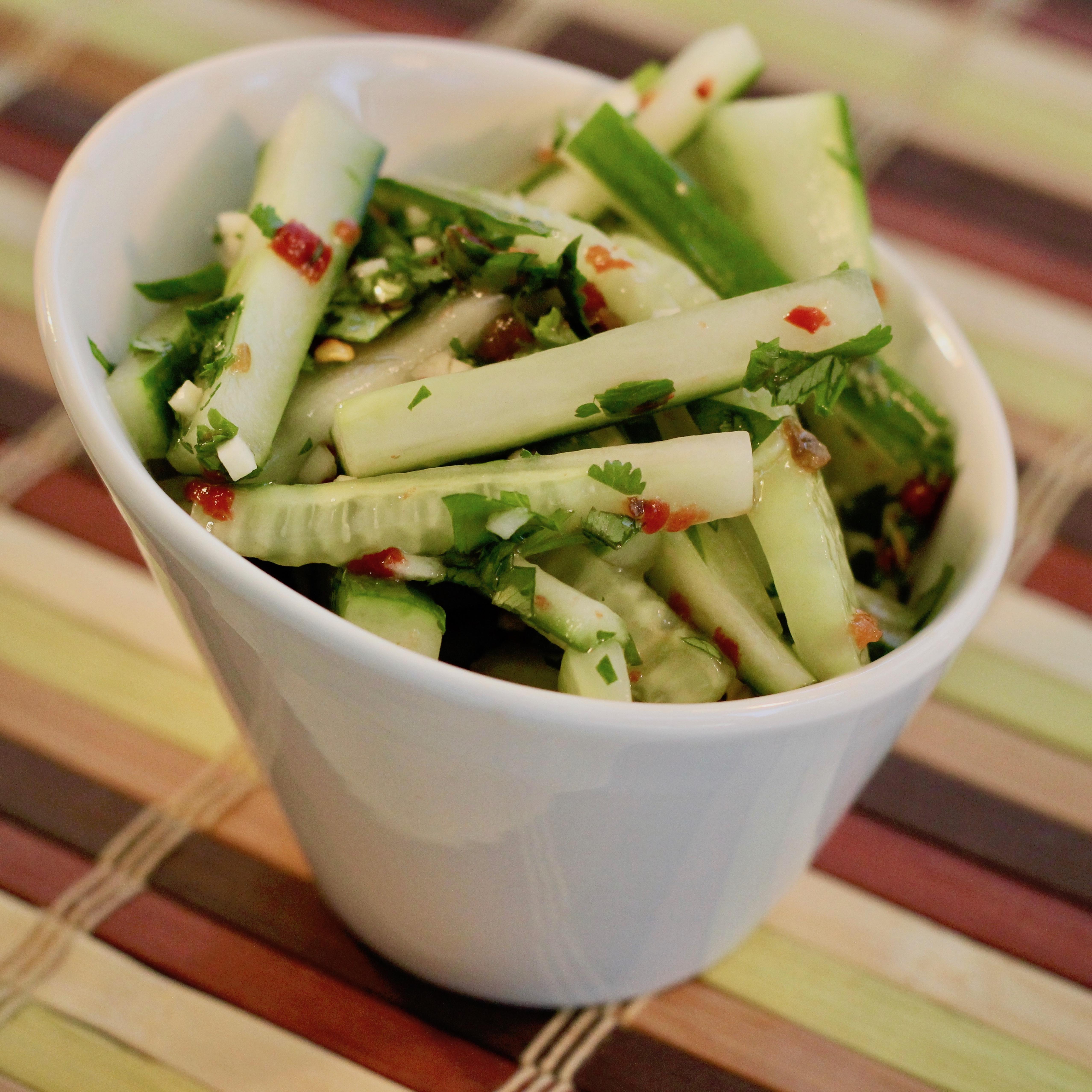 Cilantro Lime Cucumber Salad lutzflcat