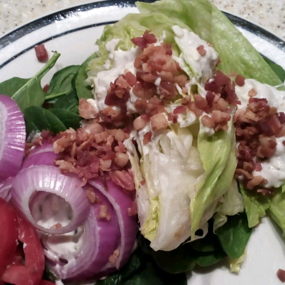 Wedge Salad with Elegant Blue Cheese Dressing laurasmom