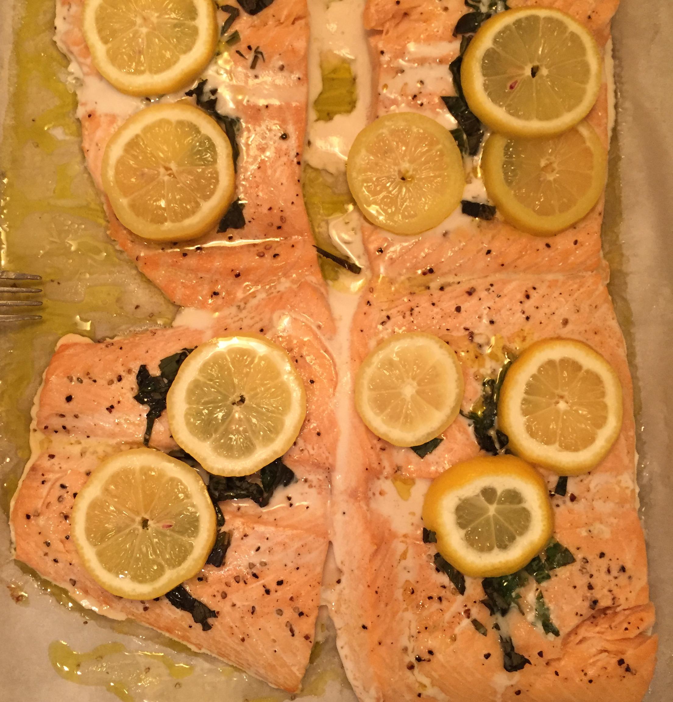 Parchment Baked Salmon kennyhallcooks