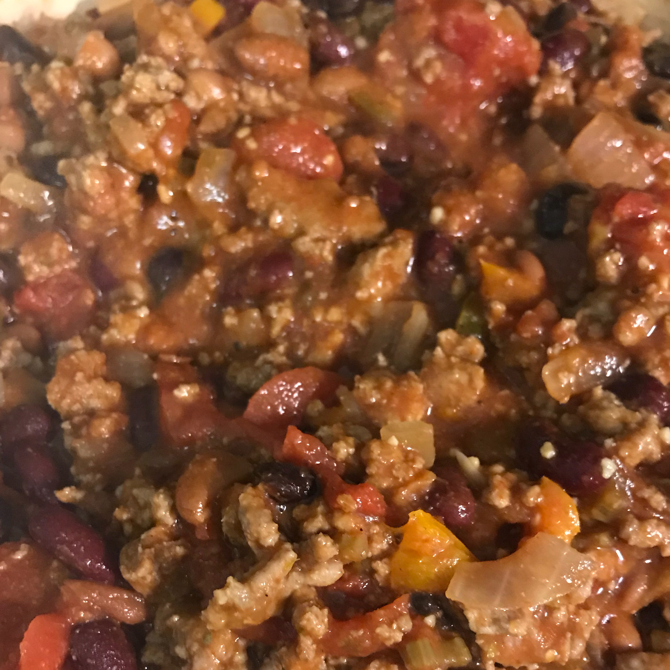 Chili With Turkey and Beans Annah Montana