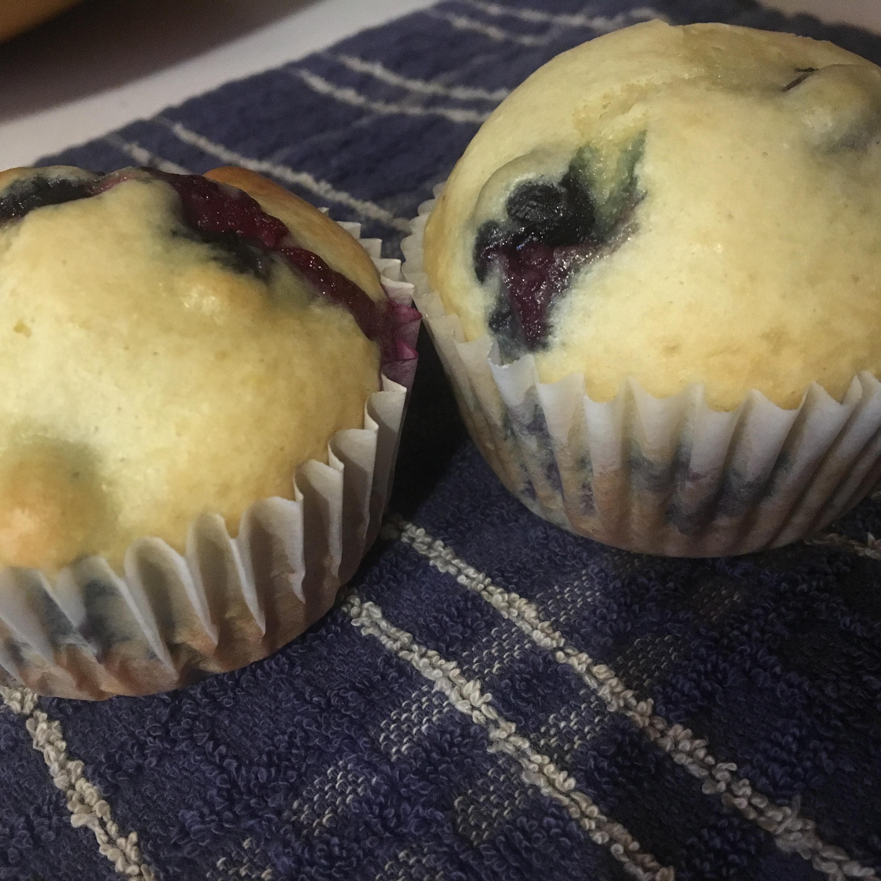 Cream Cheese-Blueberry Muffins
