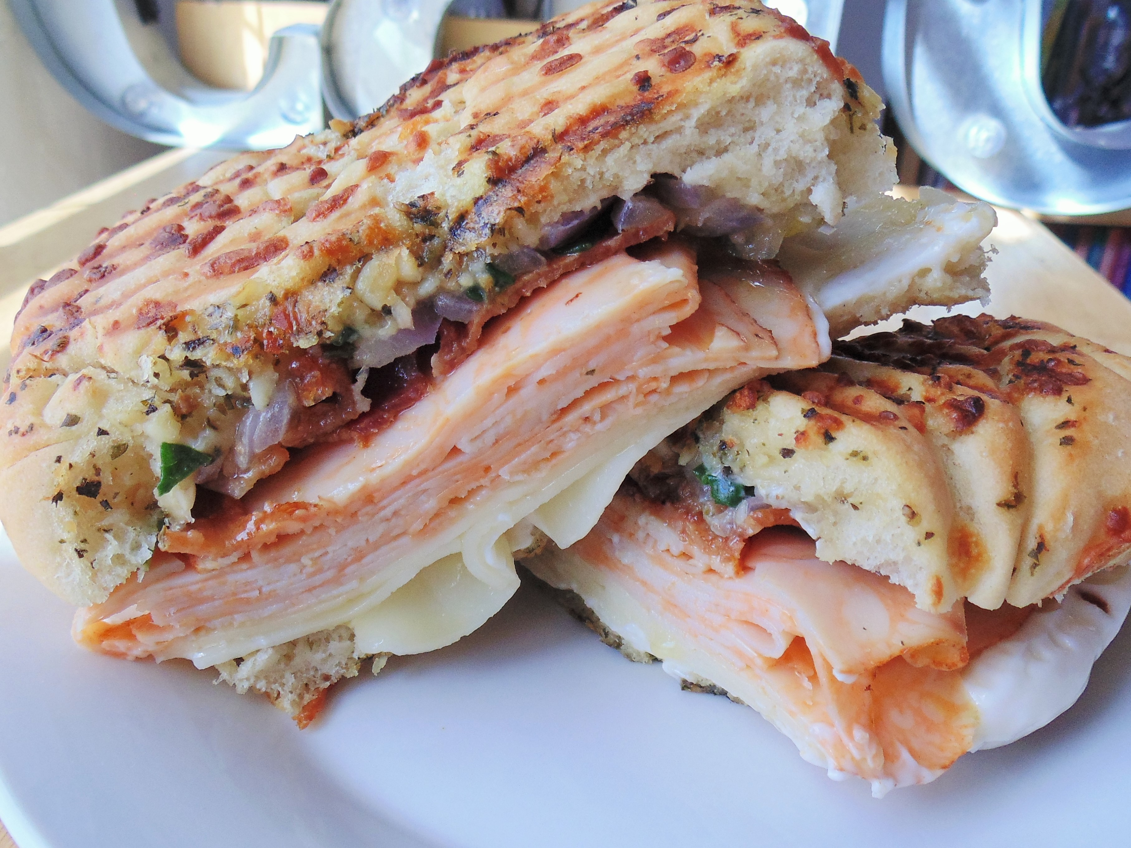 Turkey and Bacon Panini with Chipotle Mayonnaise Christina