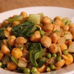 Warm Vegan Chickpea Salad