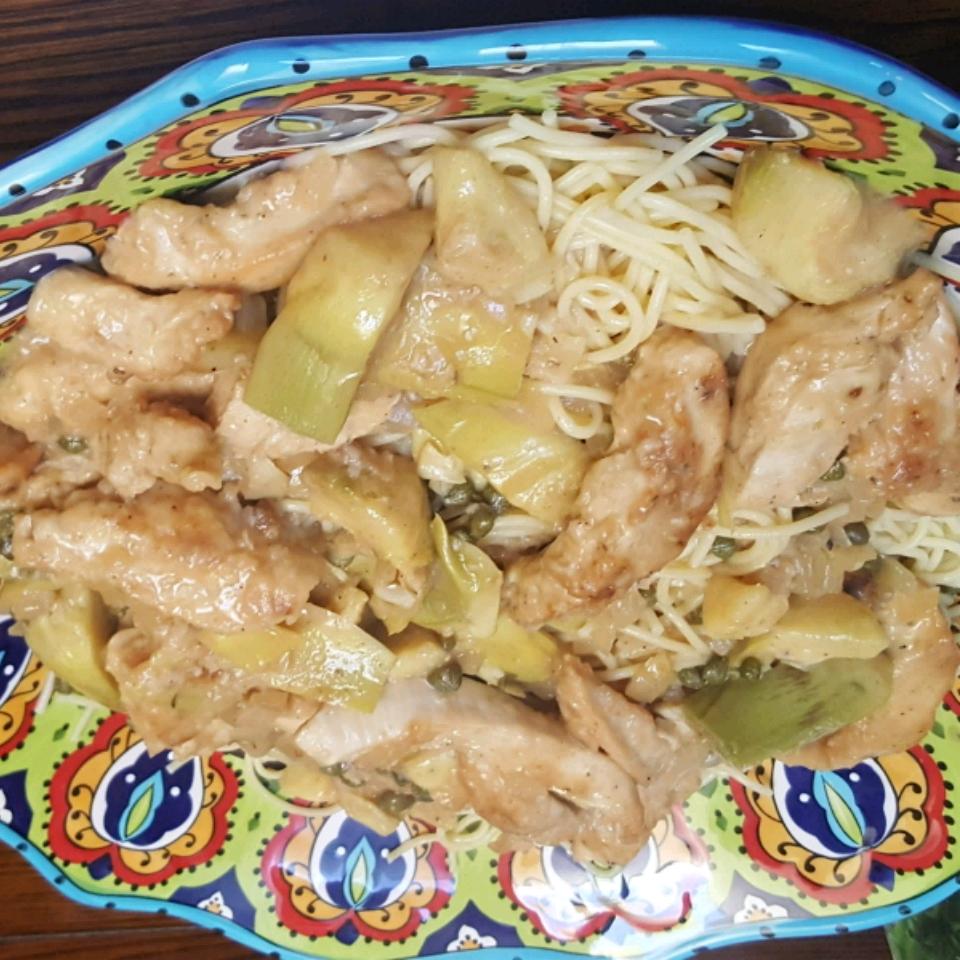Chicken Piccata with Artichoke Hearts Flip