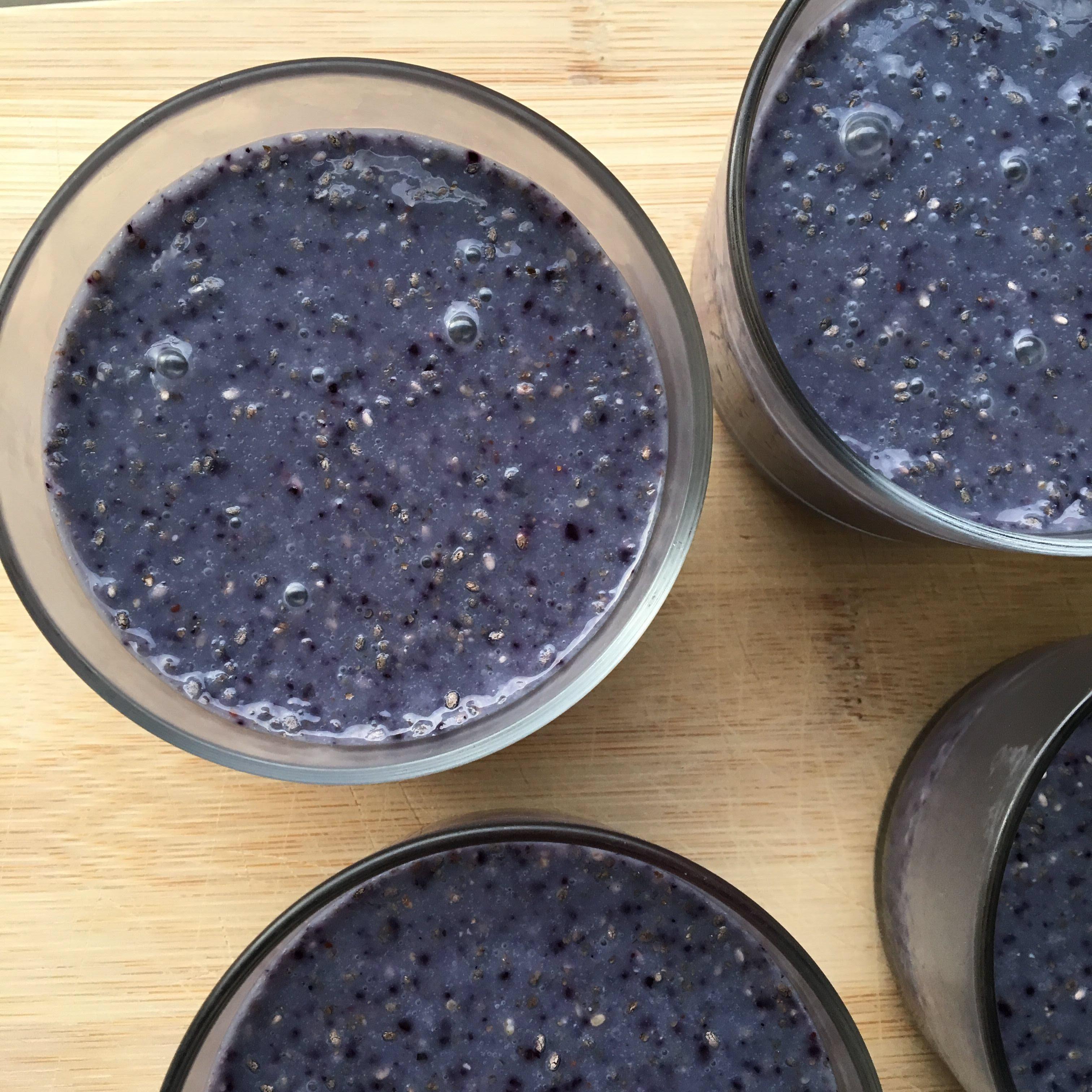 Blueberry Chia Pudding with Almond Milk AllrecipesPhoto