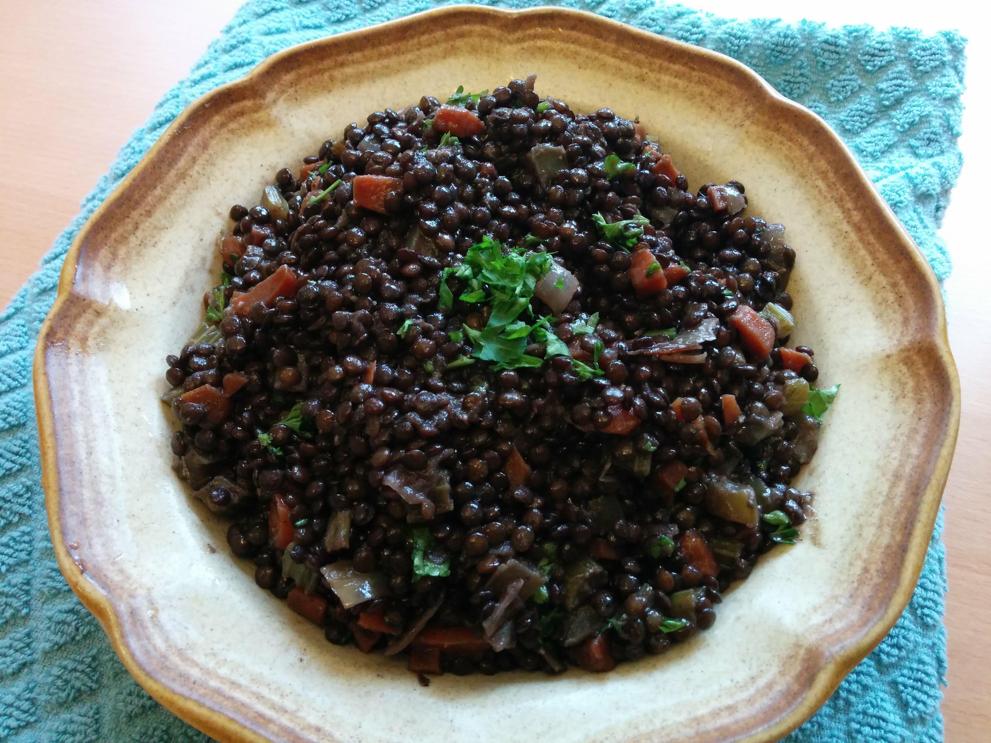 Braised Black Lentils Ila