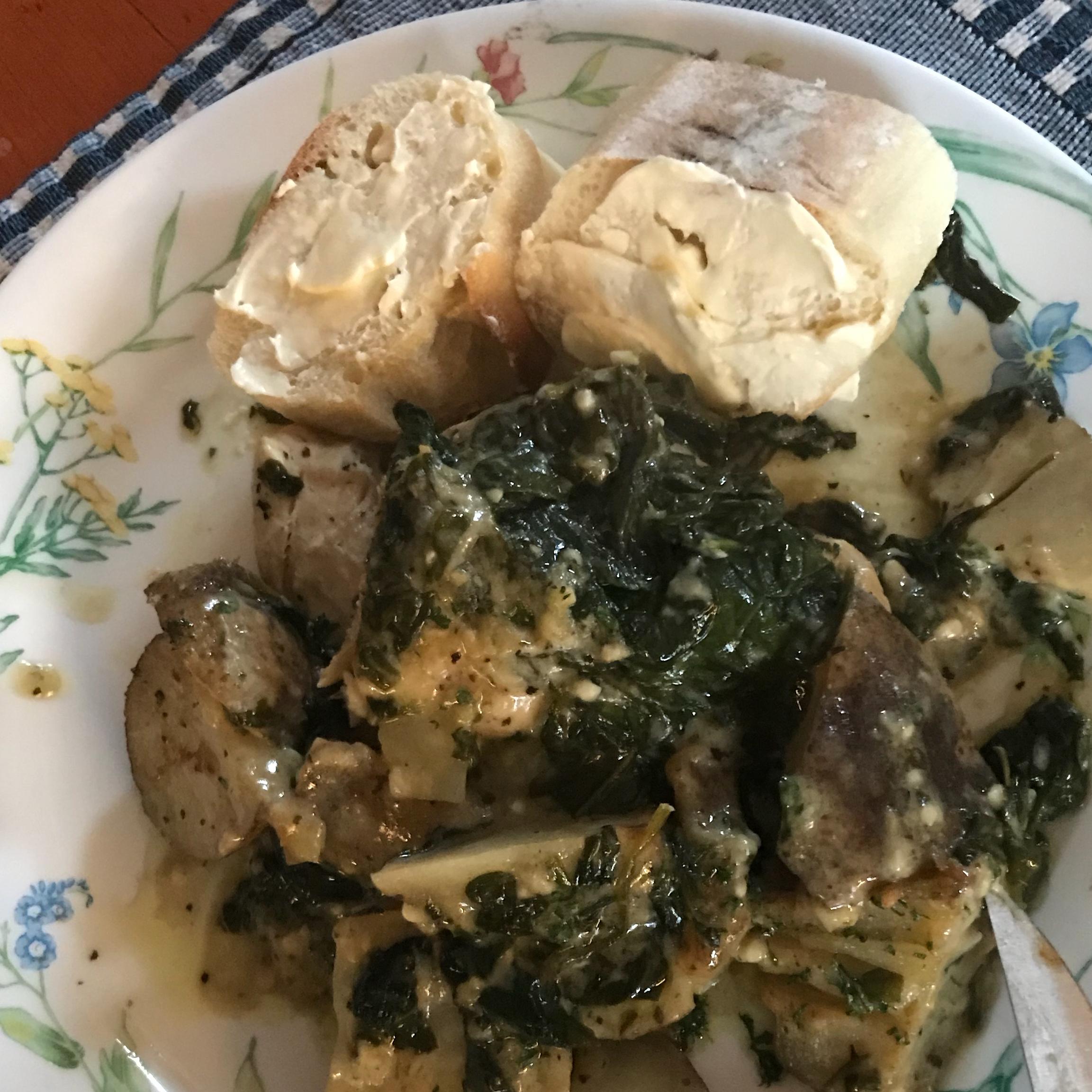 Cilantro and Garlic Potatoes