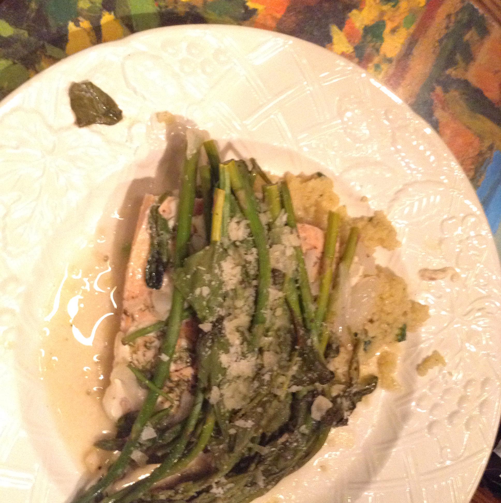 Salmon and Asparagus in a Bag deborah dawson