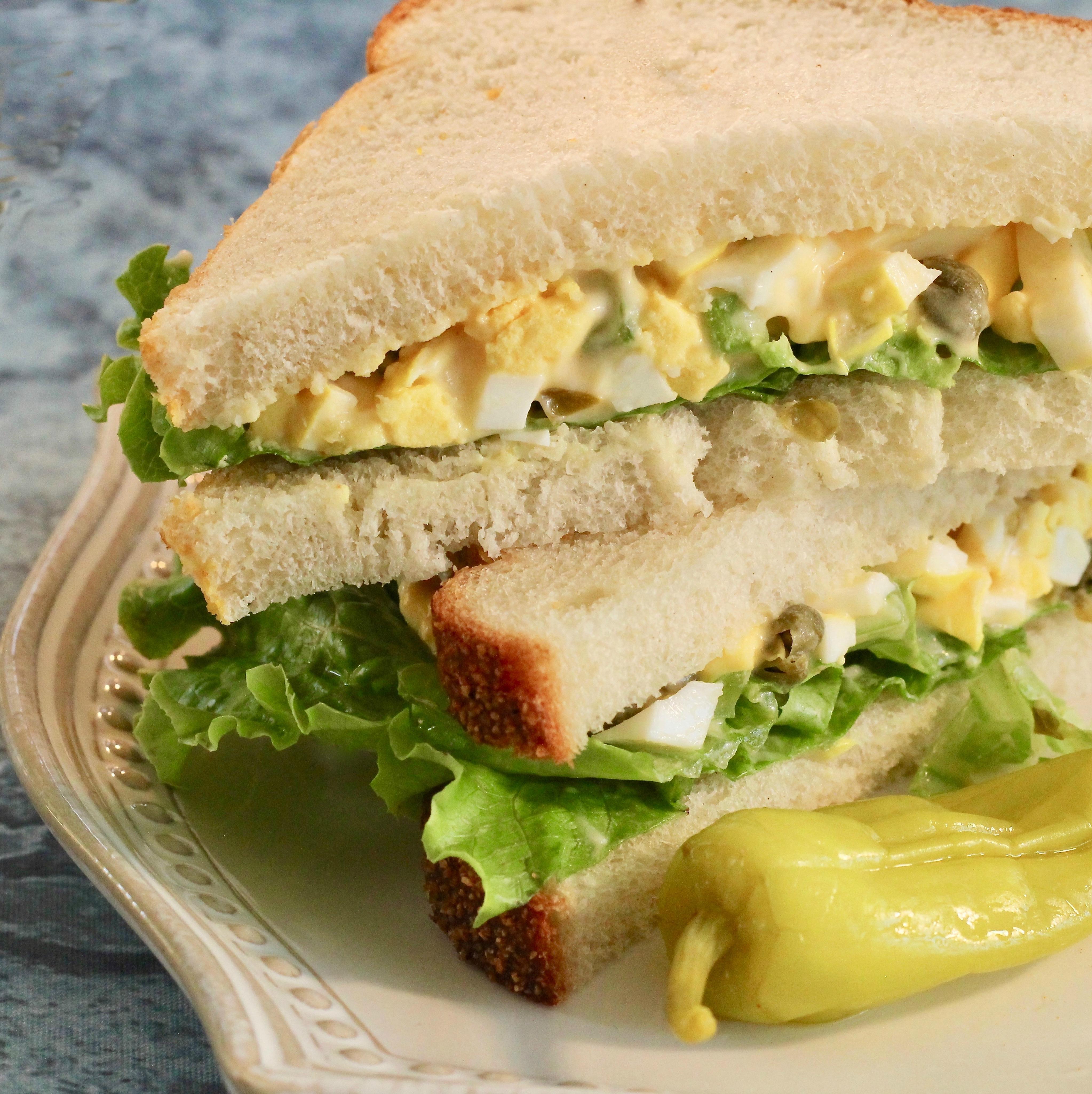 Pickled Egg Salad Sandwich lutzflcat