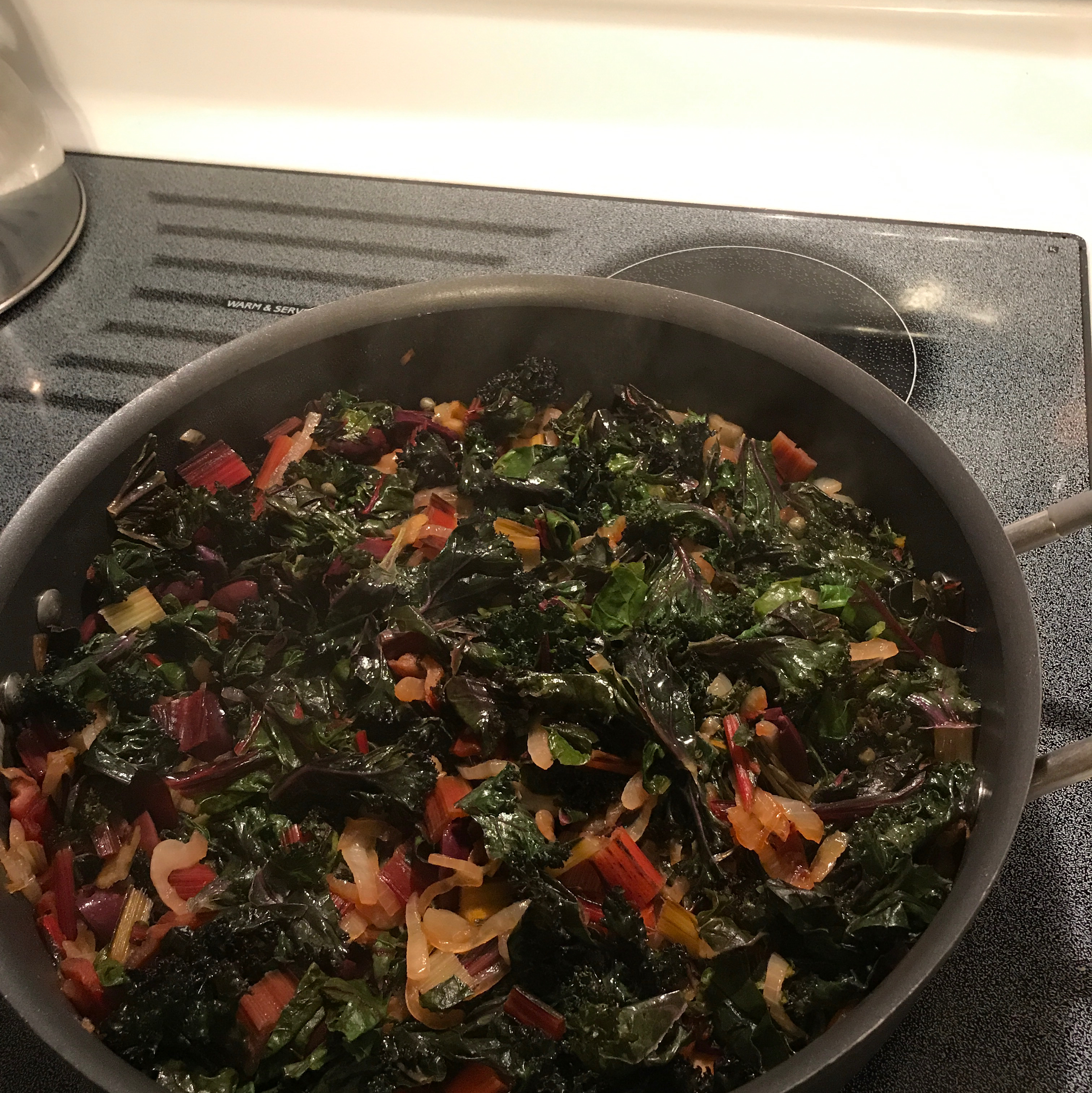 Red Chard and Caramelized Onions JudyinFlorida