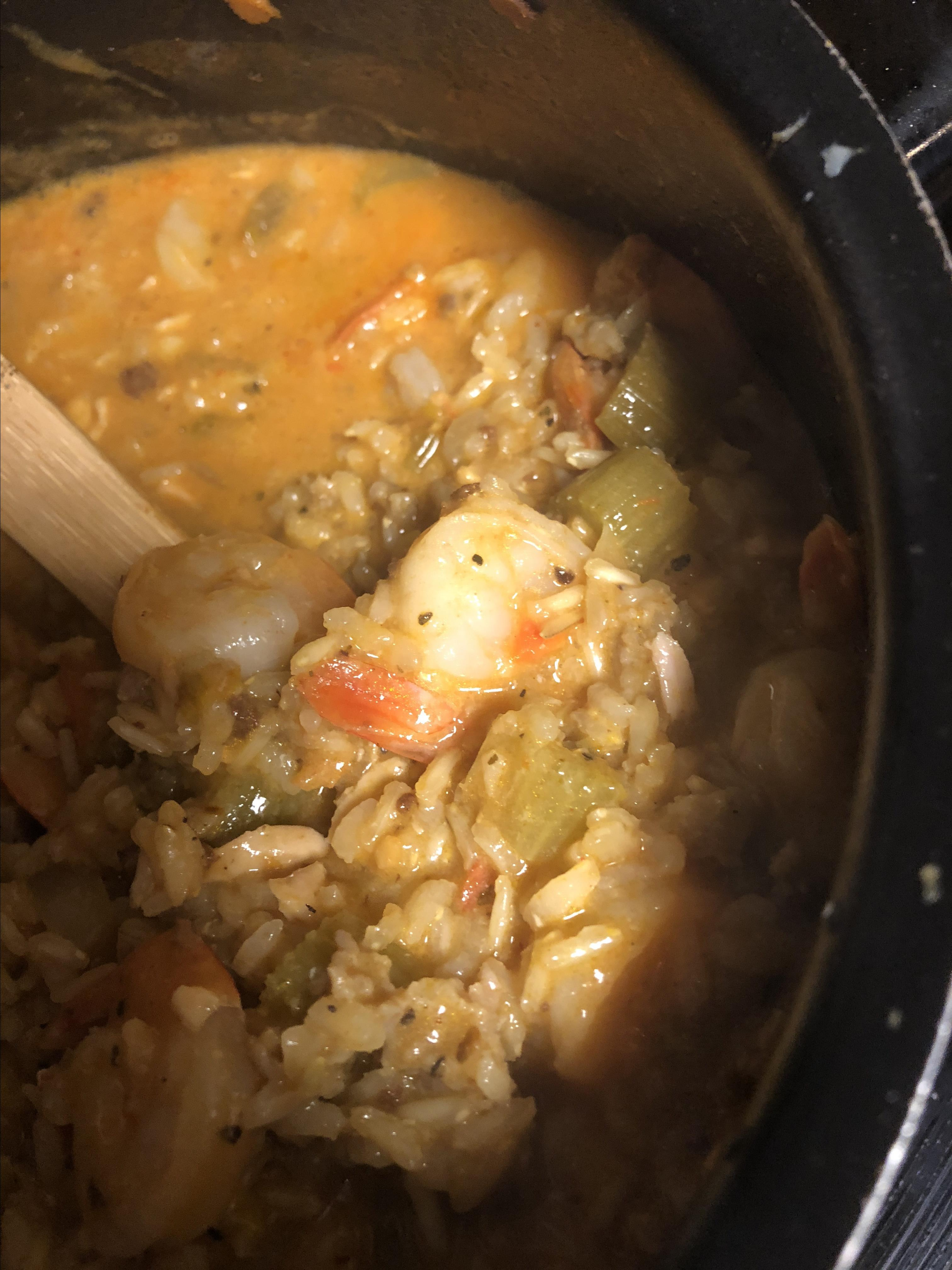 Shrimp, Sausage, and Fish Jambalaya christian gunia