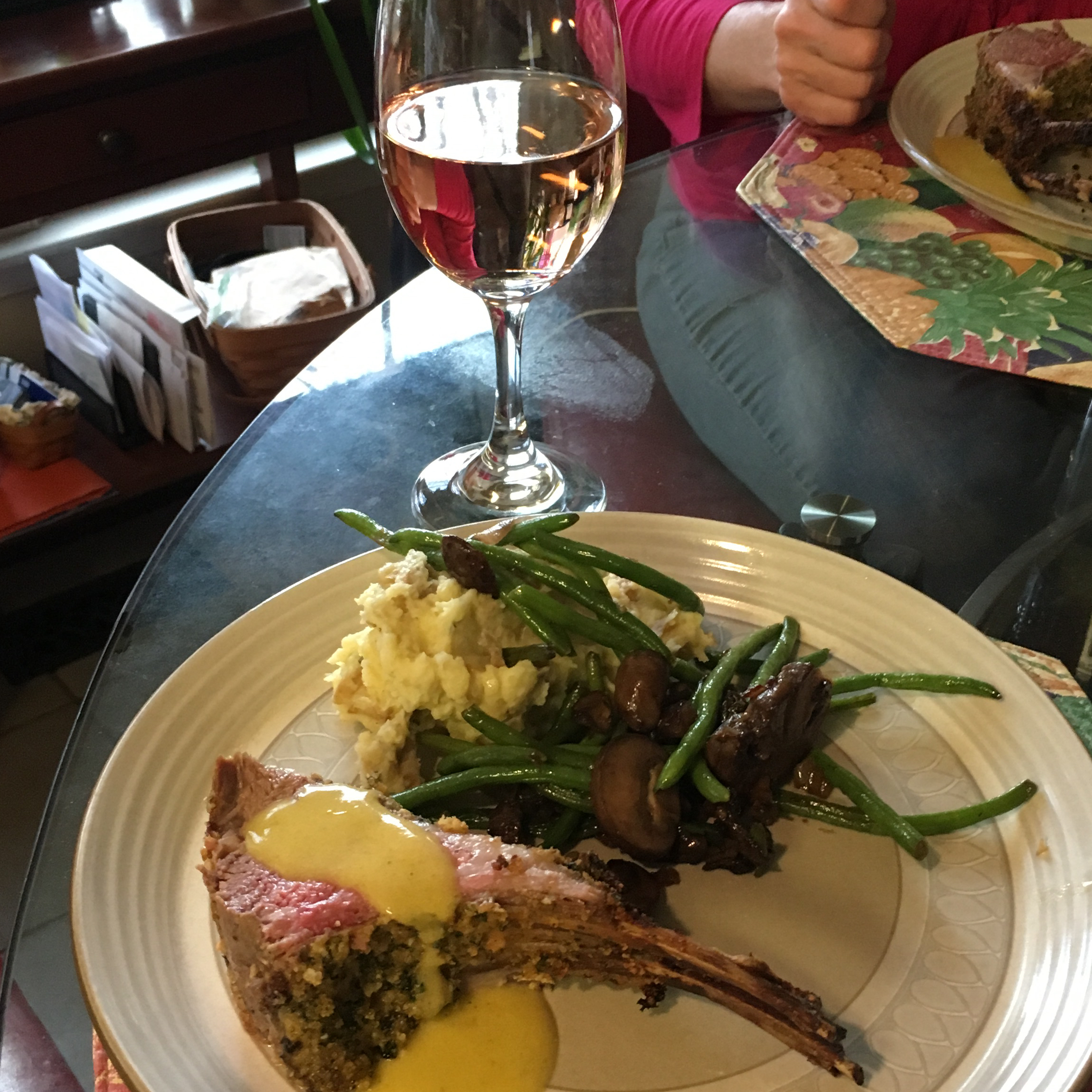 Mint Crusted Rack of Lamb Andy