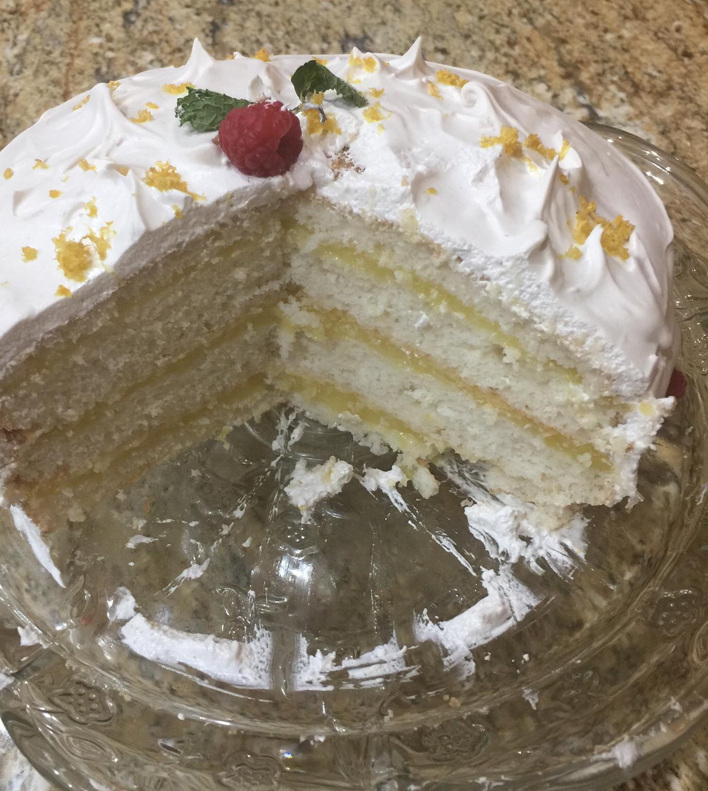 Lemon Layer Cake Mrs. Lemke