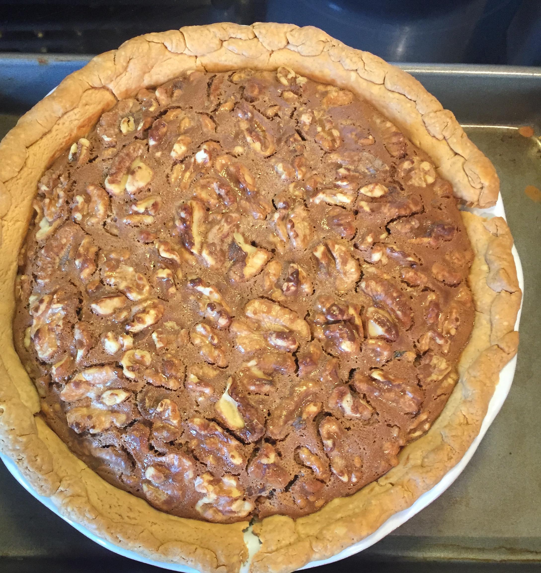 Mocha Walnut Pie