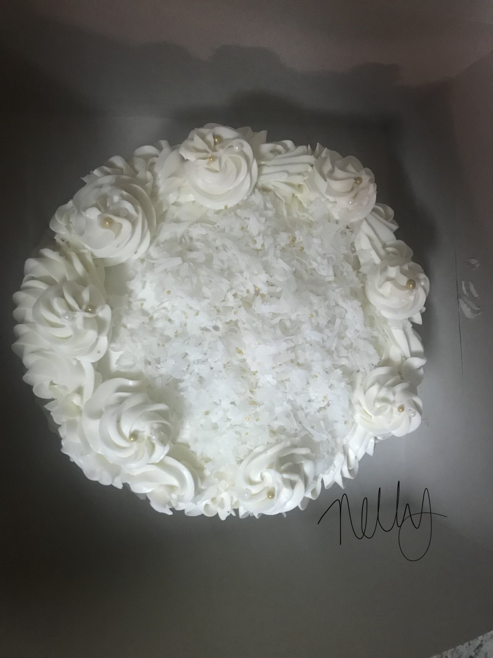Buttercream-Coconut Cake Icing