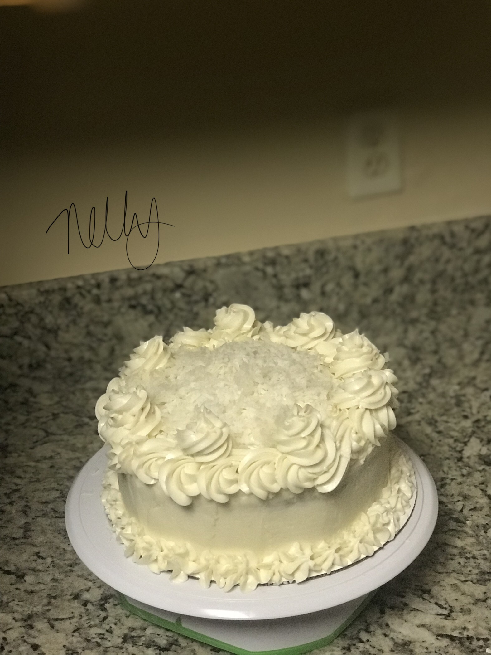 Buttercream-Coconut Cake Icing Chanel Young