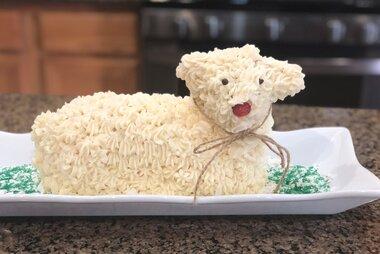 Stupendous Easter Lamb Cake Ii Allrecipes Birthday Cards Printable Inklcafe Filternl